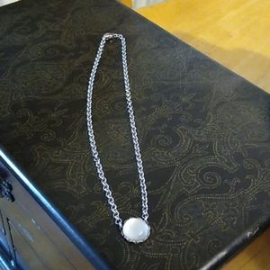 Sparkly full moon necklace